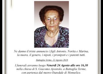Pedron Giuseppina epigrafe